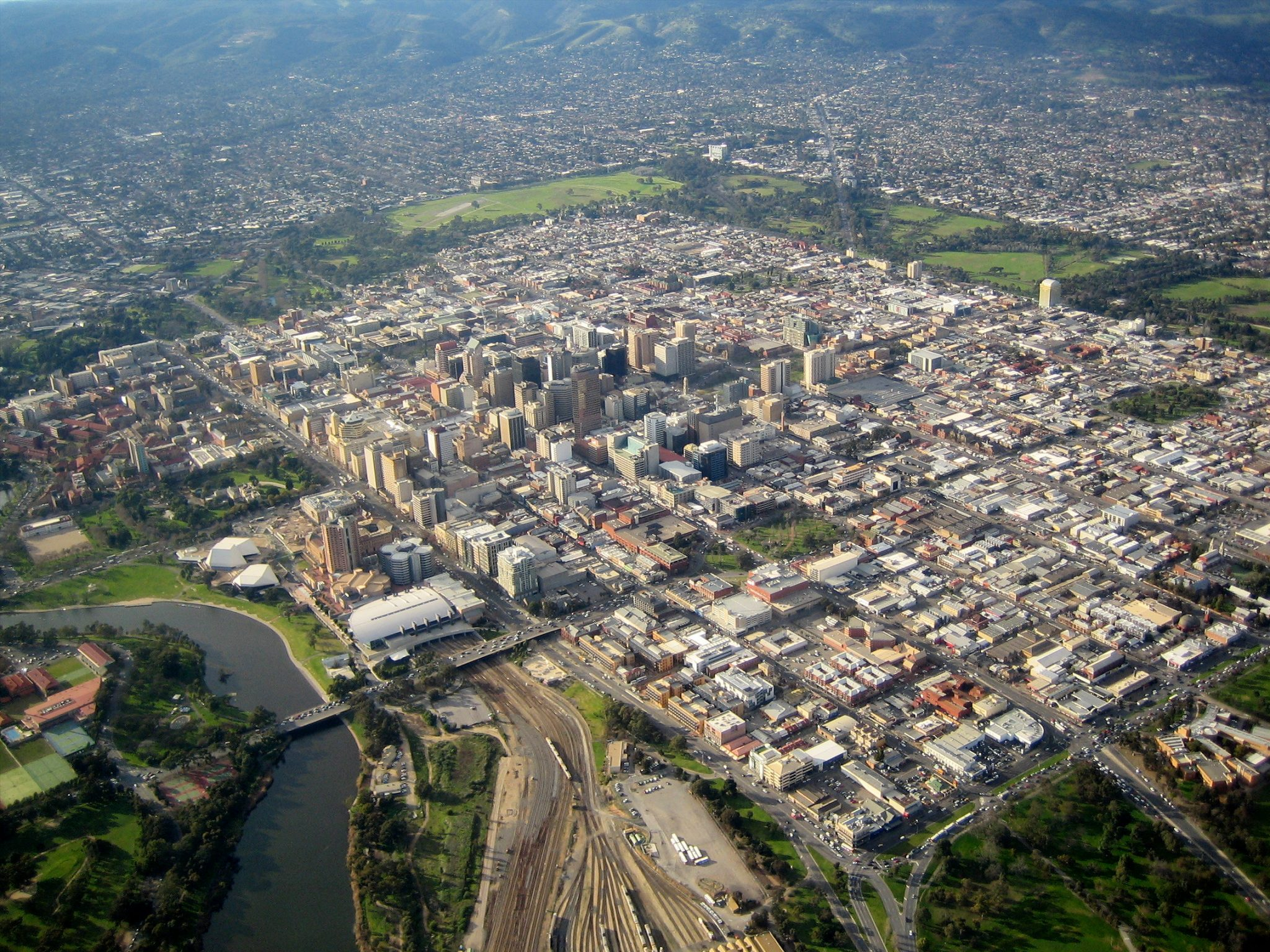 Aerial view of Adelaide - Baldwin Financial Services - Seaton Financial Advisers